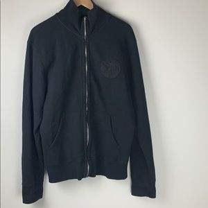 Diesel black zip up sweater size extra large